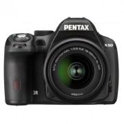 Фотокамера Pentax K-50 + объективы DA L 18-55 WR и DA L 50-200 WR черный