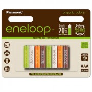 Panasonic Eneloop AAA 750 ORGANIC COLORS 8BP (BK-4MCCE/8RE)
