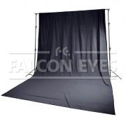 Тканевый фон Falcon Eyes FB-01 FB-3060 черный (бязь) 3x6 м