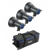 Комплект с тремя моноблоками Hensel Integra Mini 300 Kit (3шт. + сумка) 8370P4191