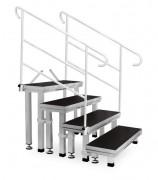 Лестница Guil ECT20-80 Модульная 4-ступенчатая лестница с ножками 20-25 см, 40-60 см, 40-60 см, 50-80 см