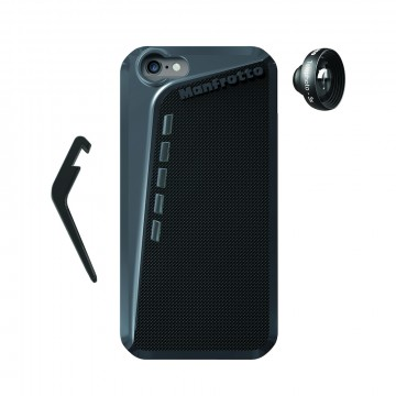 Manfrotto Чехол для iPhone 6 черный + подставка + объектив Telephoto 3
