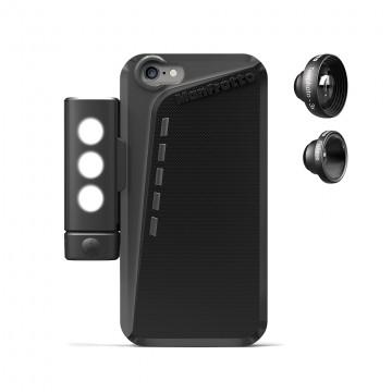 Manfrotto Чехол для iPhone 6 Plus, объективы fisheye, telephoto 3x, LED свет