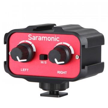 Микшер Saramonic SR-AX100 накамерный (1 стерео, 2 моно-входа 3,5 мм)