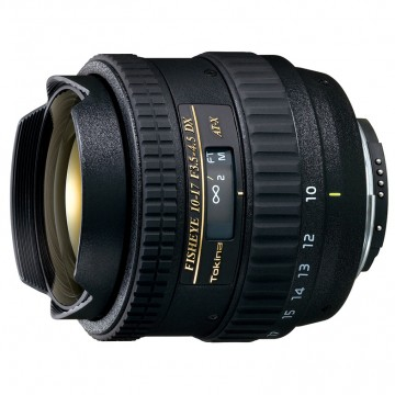 Объектив Tokina AT-X 107 F3.5-4.5 DX Fisheye C/AF (10-17mm) для Canon