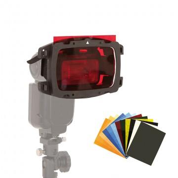 Насадка Lastolite LS2605 Strobo kit комплект кронштейн, держатель, фильтры,