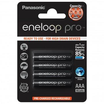 Panasonic Eneloop Pro AAA 900 4BP (BK-4HCDE/4BE)