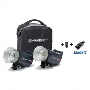 Комплект с двумя моноблоками Elinchrom ELC Pro HD 500/500 To Go & Sekonic 20691.3