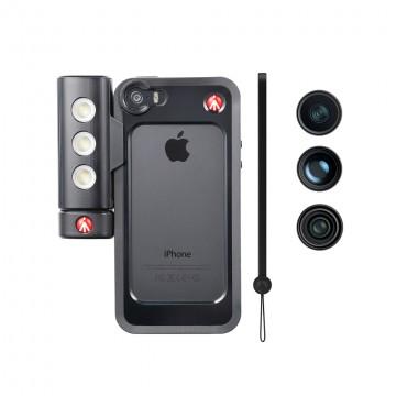 Manfrotto MKLOKLYP5S Бампер для iPhone 5/5S/SE, объективы fisheye, portait 1,5х, wideangle, LED свет