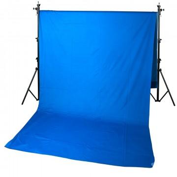 Фон GreenBean Field  3.0 х 7.0 Blue Тканевый хромакей