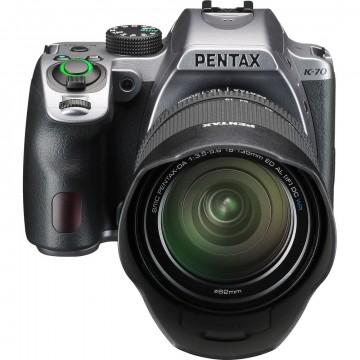 Фотокамера Pentax K-70 + обьектив DA 18-135WR silky silver