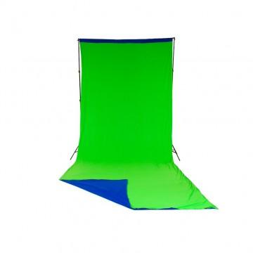 Фон Lastolite LL LC5887 (синий/зеленый) без рамы (3x7м)