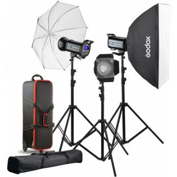 Комплект с тремя моноблоками Godox QS400II-D
